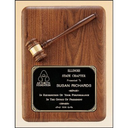 Plaque with Gavel